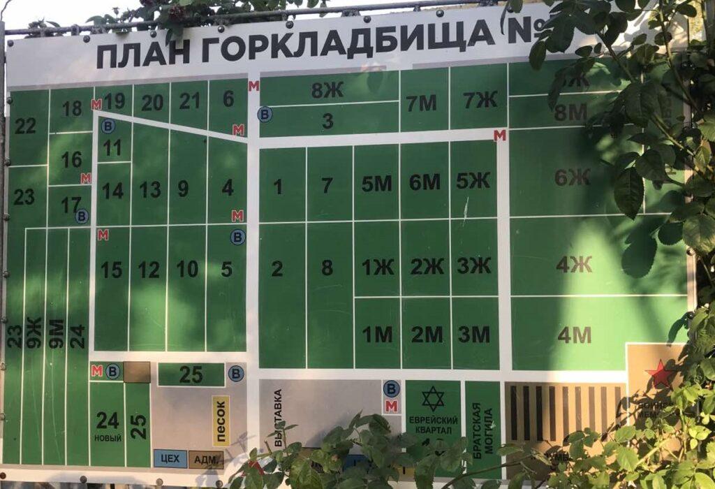 Plan 3go gorodskogo kladbisha Harkov