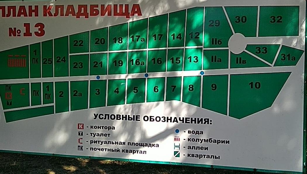 Plan 13-go gorodskogo kladbisha Harkov
